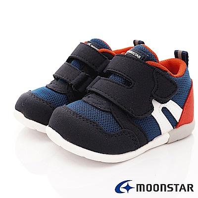 日本月星頂級童鞋 HI系列3E穩定款 ON115深藍(寶寶段)