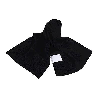 CK Calvin Klein 素面LOGO圍巾(黑)
