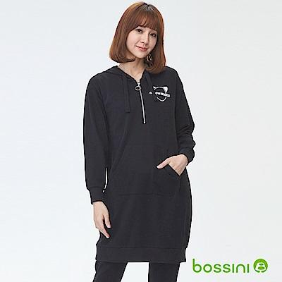 bossini女裝-厚棉連身裙黑