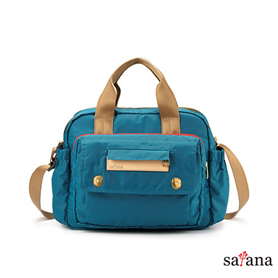 satana - MAMA 多功能側背手提包 - 水鴨綠