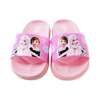 魔法Baby 女童鞋 台灣製冰雪奇緣卡通授權正版舒適拖鞋 sa04742