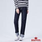 BRAPPERS 女款 Boy friend系列-中高腰彈性直筒褲-深藍