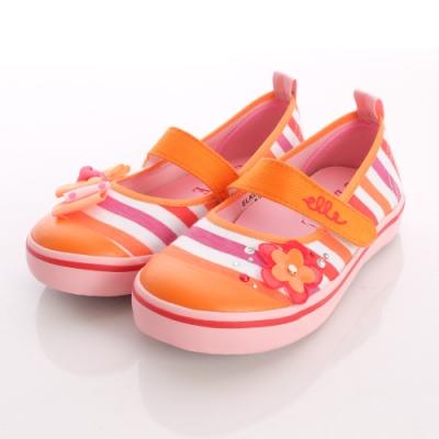 ELLE時尚童鞋-不對稱條紋娃娃款-C40372紅橘(中小童段)
