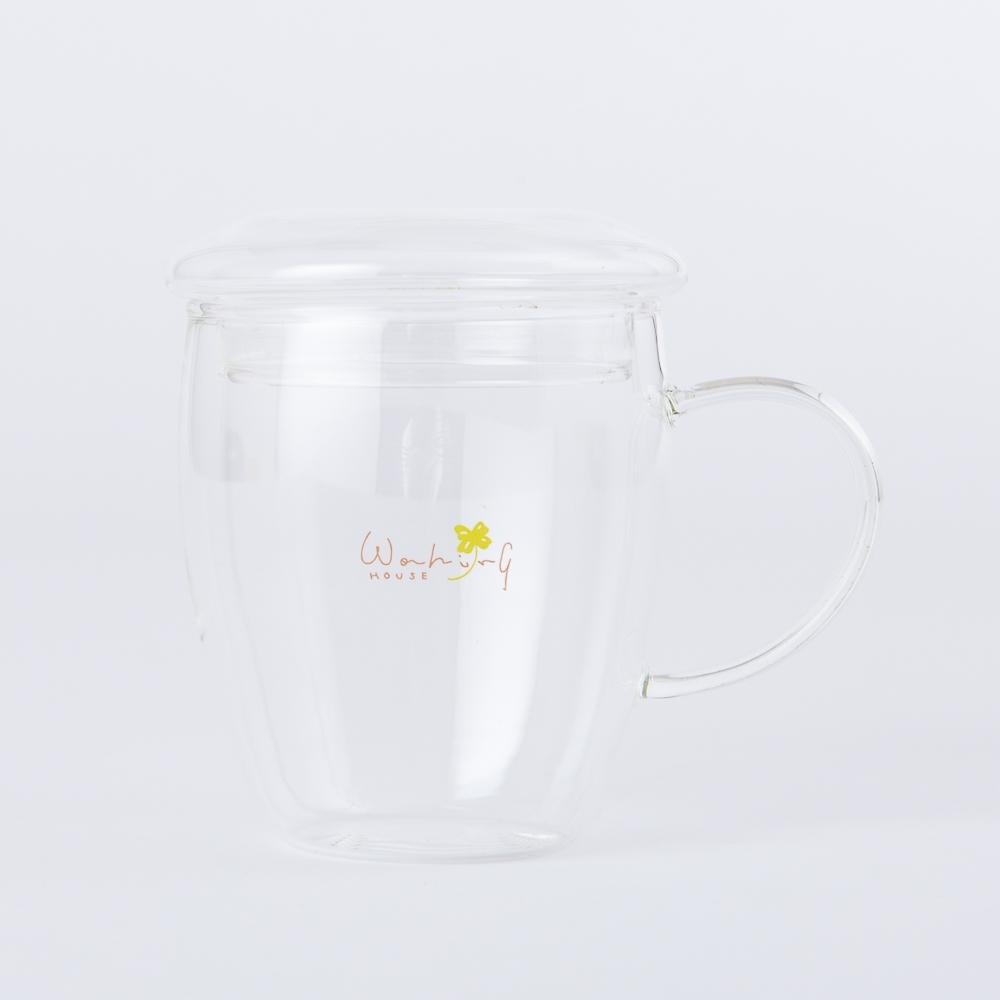 【百貨週年慶暖身 全館5折起-生活工場】Clover樂活玻璃附蓋馬克杯300ml