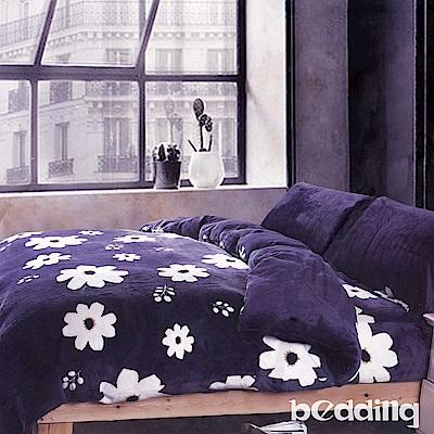 BEDDING-法蘭絨標準雙人6x7兩用被套-波斯菊