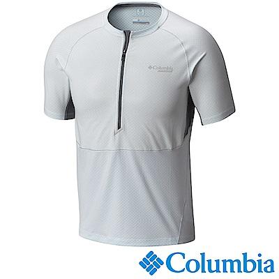 Columbia 哥倫比亞 男-抗UV50涼感快排半開襟短袖上衣AE0149