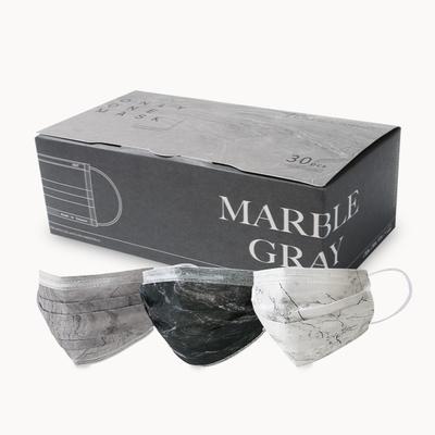 清新宣言 成人醫用口罩 一心一罩 紋路唯美系列-黑白系(10入x3款 共30入/盒)