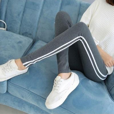 【brs】 彈力棉質顯瘦雙線內搭運動褲