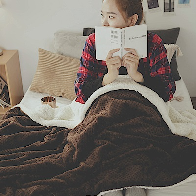 絲薇諾 咖啡 Warm Warm羊羔絨毯/毛毯-150×200cm