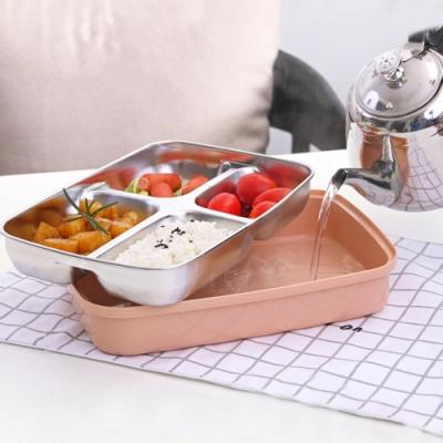 【Cap】304不鏽鋼隔水加熱便當盒/附餐具
