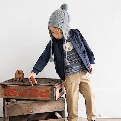 PIPPY 保暖北極熊刷毛針織上衣 藍