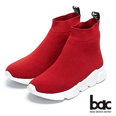 【bac】街頭運動-歐美風格彈性襪靴休閒鞋