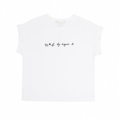 Agnes b. /  To b. 經典logo圓領短袖上衣 (女) (白)