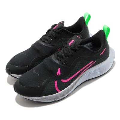 Nike 慢跑鞋 Pegasus 37 Shield 男鞋 輕量 舒適 避震 路跑 健身 防潑水 黑 粉 CQ7935003