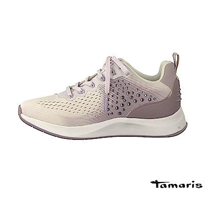 TAMARIS(女) 鑽石山 透氣網布高彈力都會運動鞋 - 鑽面粉