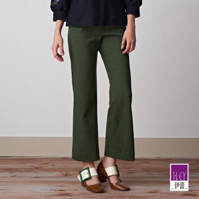 ILEY伊蕾 氣勢感細節褲頭顯瘦直筒褲(綠)
