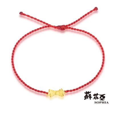 蘇菲亞SOPHIA - G LOVER系列禮物黃金手環(紅)