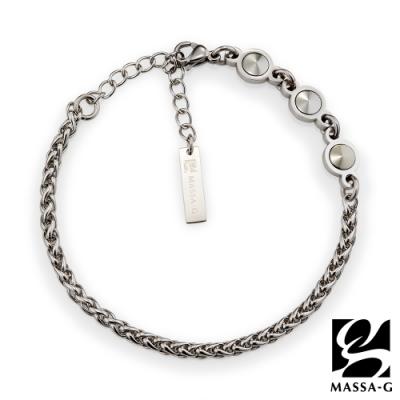 MASSA-G【Hermes】荷米斯之鍊金屬鍺錠白鋼手鍊