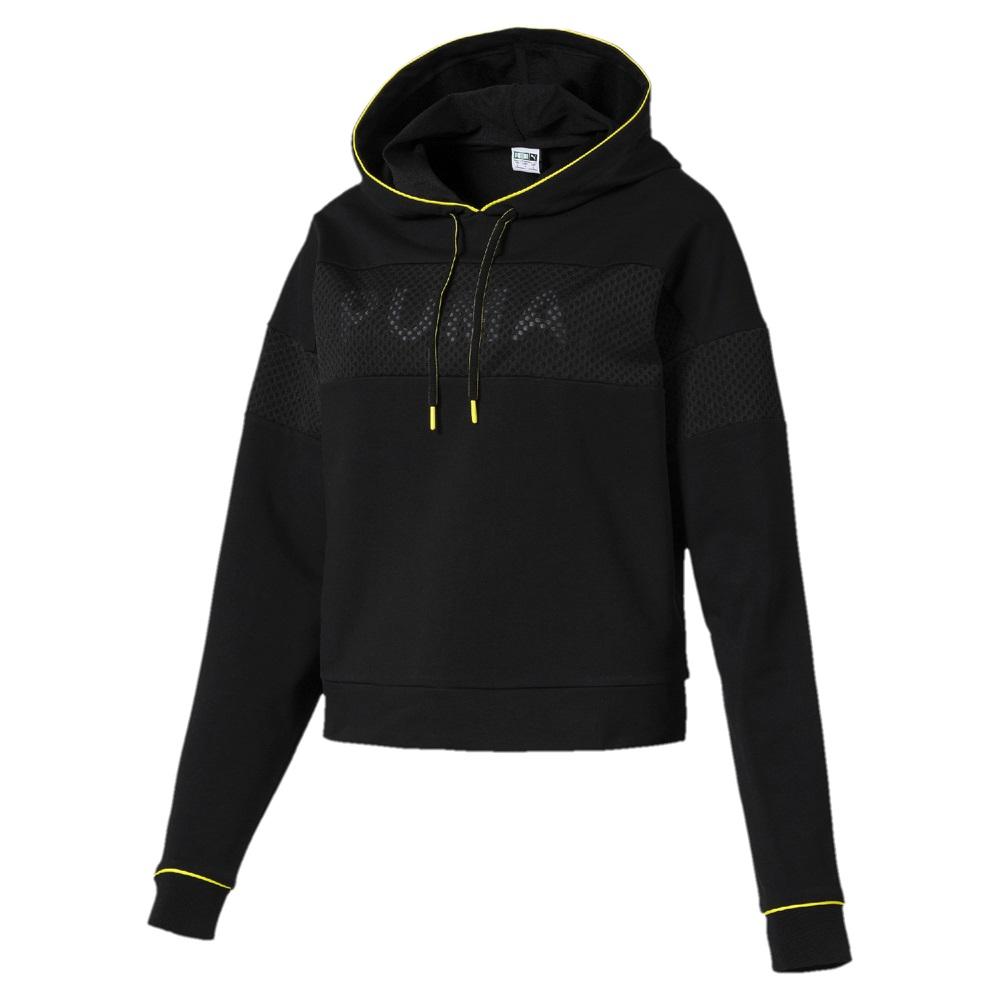 PUMA-女性流行系列Chase長厚連帽T恤-黑色-亞規