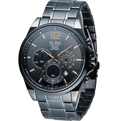 ALBA 街頭酷流行三眼計時腕錶(AT3A65X1)44mm