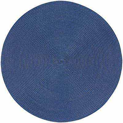 NOW 素面織紋圓餐墊(藍紫)