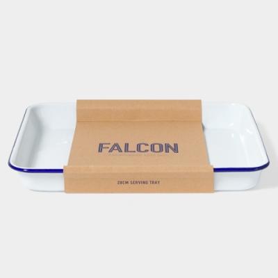 英國Falcon 獵鷹琺瑯 琺瑯托盤 藍白