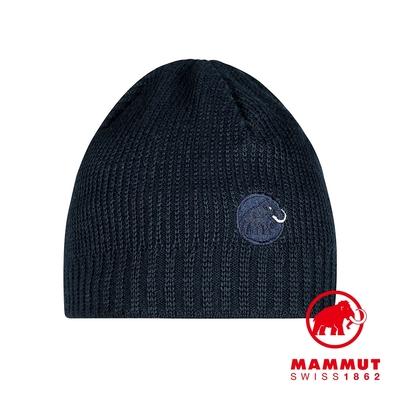 【Mammut 長毛象】Sublime Beanie 刺繡LOGO保暖羊毛帽 海洋藍 #1191-01542