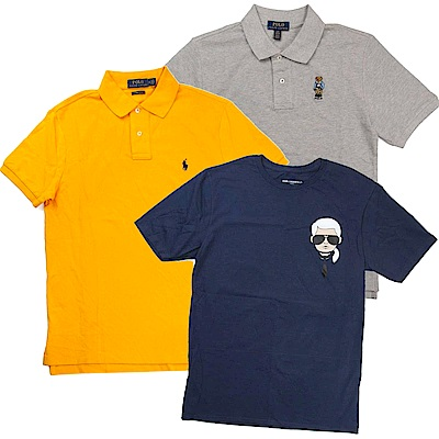 Ralph Lauren短袖衫 & Karl老佛爺短袖T