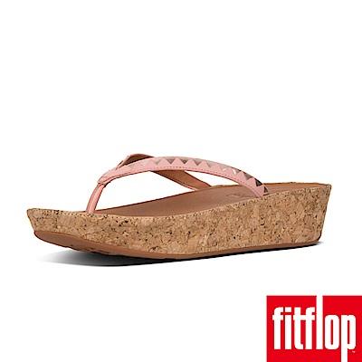 FitFlop LINNY TOE-THONG- ZIGZAG MIR-灰粉