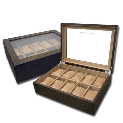 低調奢華 手錶收藏盒 配件收納 腕錶收藏盒 10入收藏 實木質感 - 深褐木色