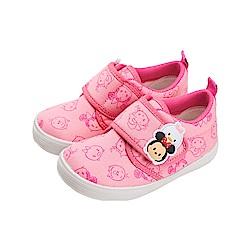 迪士尼童鞋 TsumTsum 米妮 厚布料學步鞋-粉