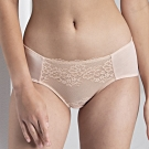 華歌爾- 微塑 M-LL 中低腰內褲(膚)蕾絲刺繡-親膚包臀