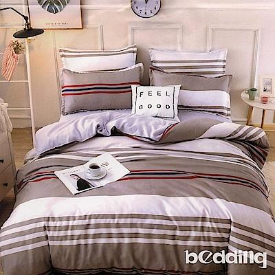 BEDDING-活性印染 特大6x7尺床包三件組-炫彩條紋