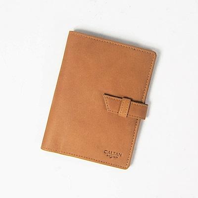 CALTAN-真皮護照夾 卡片層護照 護照收納 牛皮 證件護照套-1831ht