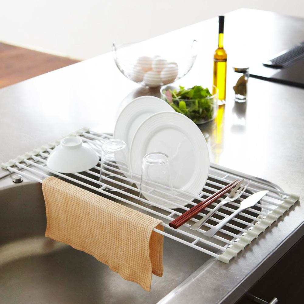 【YAMAZAKI】Plate多功能瀝水架-S★居家收納/置物架/衛浴收納/廚房收納