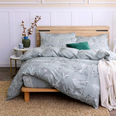 鴻宇 100%精梳棉 艾米堤 灰 雙人特大四件式兩用被床包組