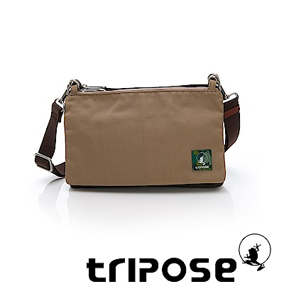 tripose MAJI系列混紡咖x奶茶駝多變斜背包