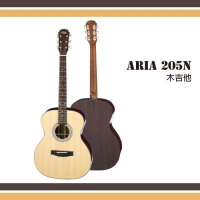 Aria 205N木吉他/單板雲杉面