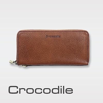 Crocodile Natural系列義大利原皮拉鍊長夾 0103-5822