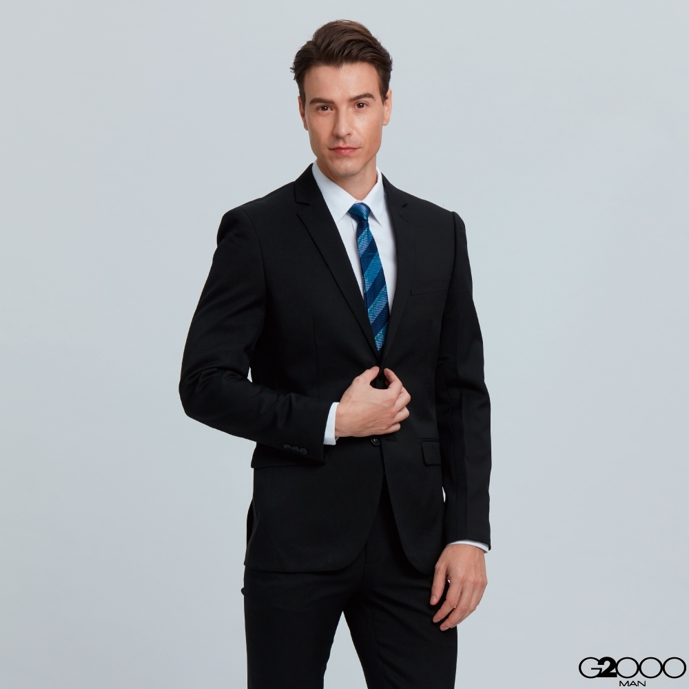 G2000商務成套斜紋套裝-黑色