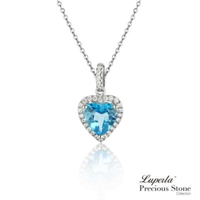 大東山珠寶 璀璨晶鑽托帕石項鍊 摯愛