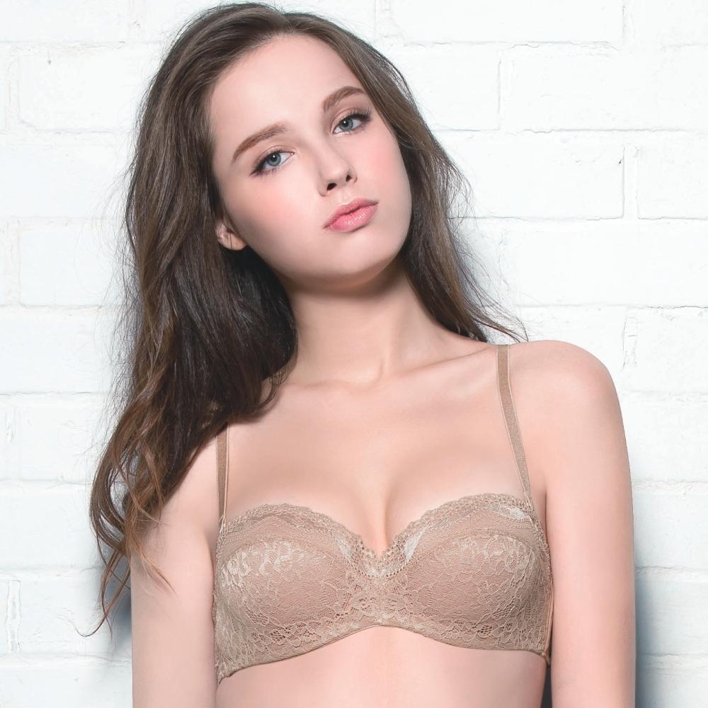 莎薇-b.tempt'd系列-無縫 C-E罩杯(膚色) 細緻蕾絲-可拆卸肩帶