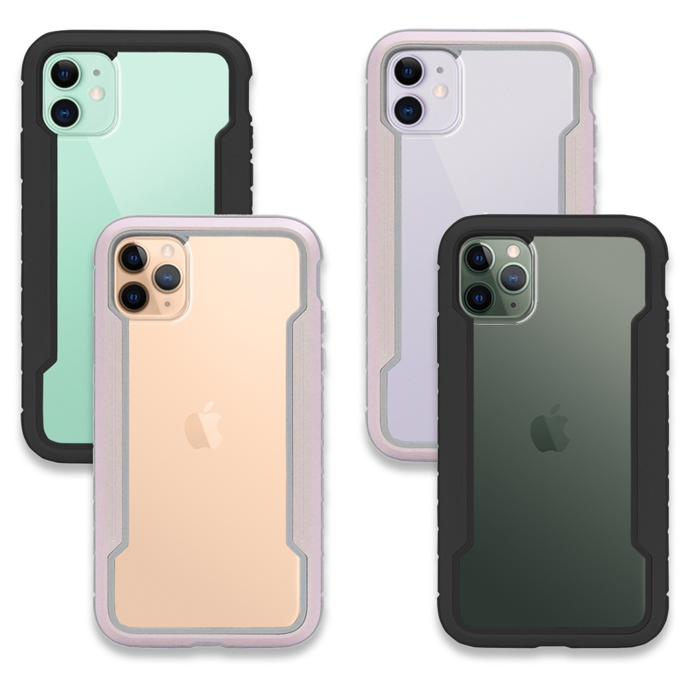 Apple iPhone 11全系列 軍規防摔金屬框手機殼