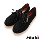 Miaki-休閒鞋韓潮時尚平底包鞋-黑