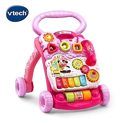 【Vtech】寶寶聲光學步車-粉