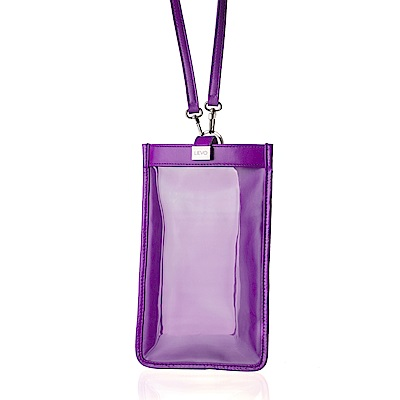 LIEVO  TOUCH - 真皮斜背手機護照包_深紫紅