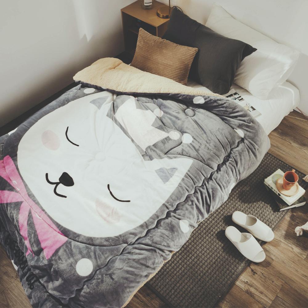 絲薇諾 美喵喵 法蘭羊羔絨暖暖被-150×200cm
