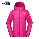 The North Face北面女款粉紅色防水透氣連帽衝鋒衣|3L8L657