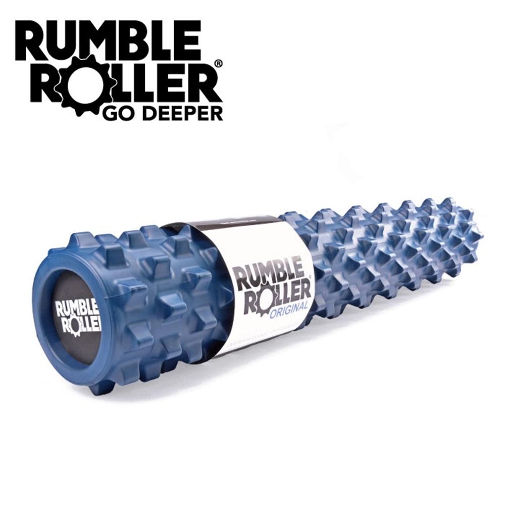 【Rumble Roller】深層按摩滾輪 狼牙棒 長版76cm 標準硬度(瑜珈柱 按摩滾筒 筋膜放鬆 瑜珈滾筒)