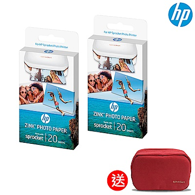 HP Sprocket -Zink 2x3吋 原廠相紙20張 (2入)